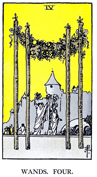 Four of Wands Tarot Card